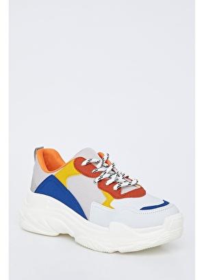 DeFacto Renk Bloklu Bağcıklı Spor Ayakkabı